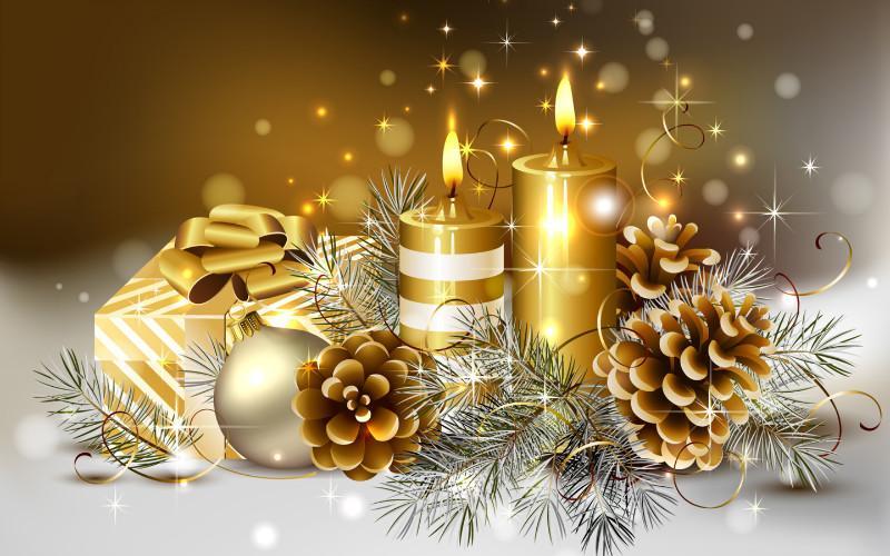 Со светлым праздником Рождества Христова и с Новым Годом!