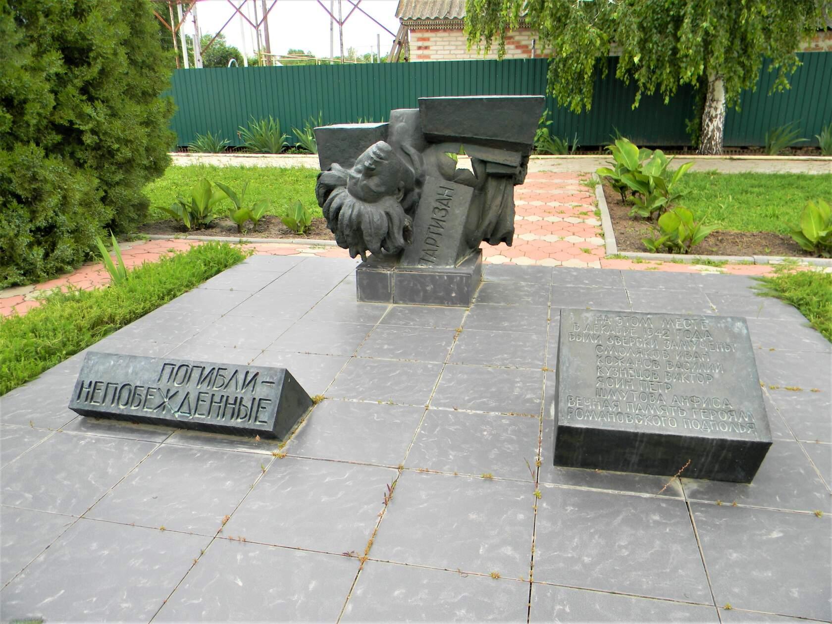Вечная память Романовским партизанам