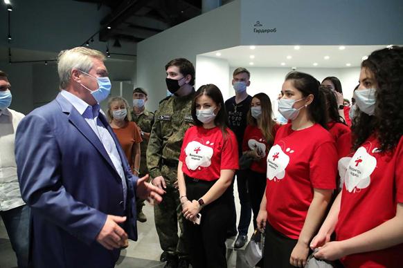Василий Голубев обсудил с молодёжью поправки в Конституцию