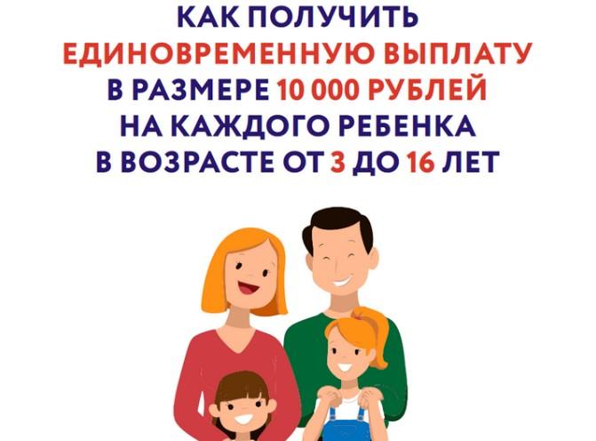 Выплаты на детей от 3 до 16 лет