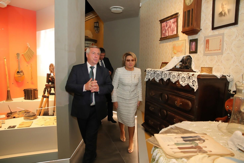Валентина Матвиенко и Василий Голубев обсудили перспективы сохранения и развития культурного достояния на Дону