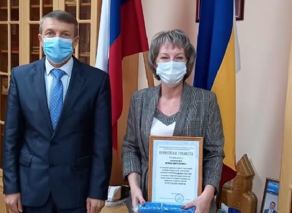 Глава Волгодонского района вручил юбилейные медали активисткам «Союза женщин России»