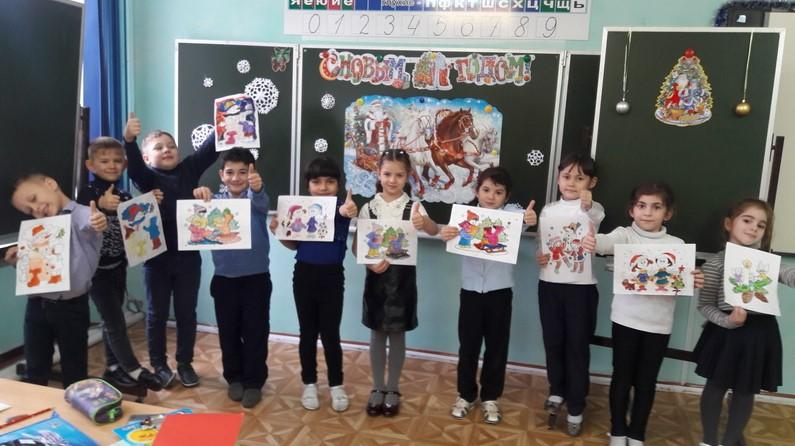 13 января первоклассники Побединской СОШ отметили Старый Новый год