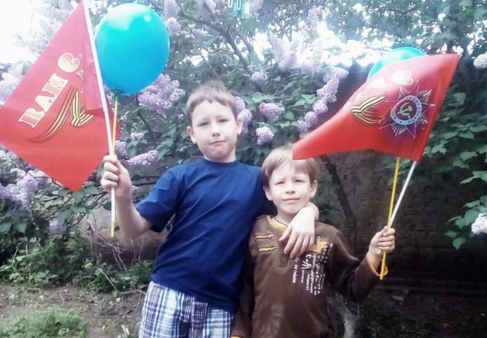 Киреевы Никита и Максим — участники конкурса «Мой защитник — мой герой»