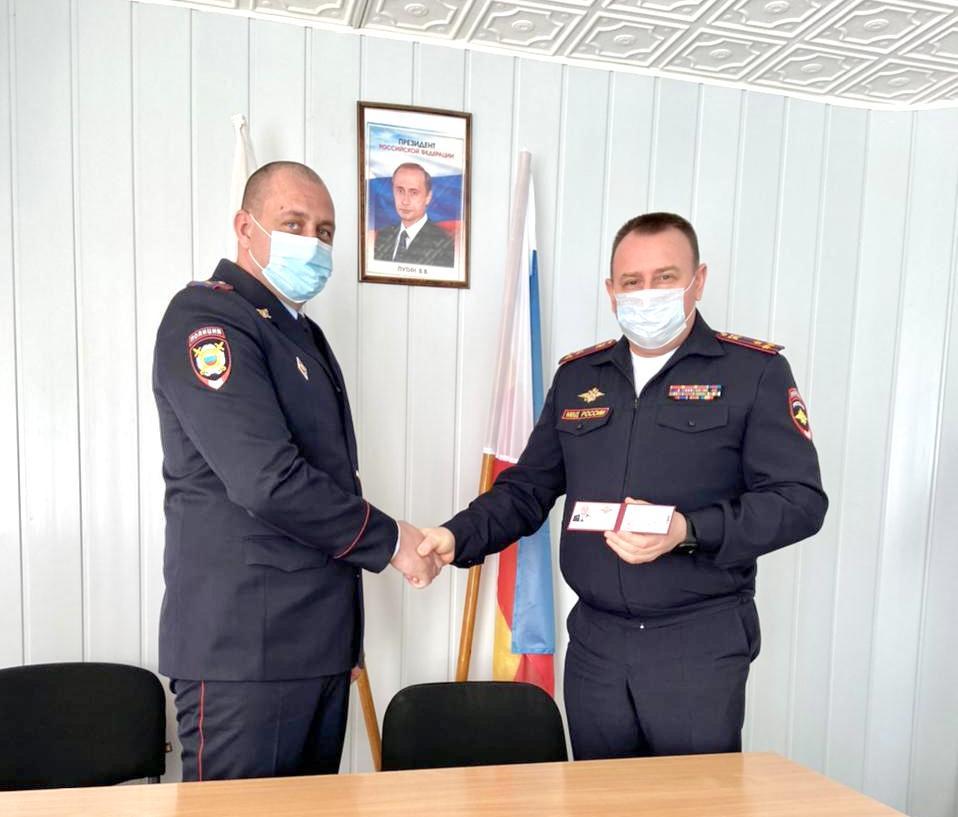 Начальник МУ МВД России «Волгодонское» представил личному составу нового руководителя отдела полиции