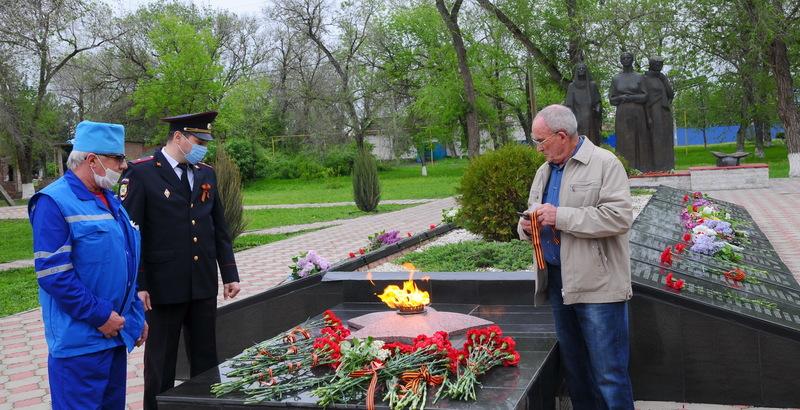 В память о Великой Победе 1945 года в станице Романовская состоялся митинг