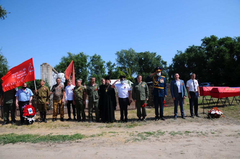 В хуторе Морозов прах павших воинов предали земле в 80-ю годовщину начала Великой Отечественной войны