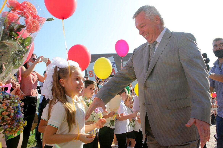 В День знаний Василий Голубев поприветствовал школьников и педагогов Дона