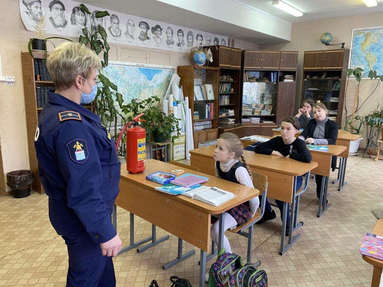 Со школьниками Волгодонского района провели противопожарную разъяснительную работу